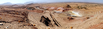 Bisha Main Pit Panoramic Showing Highwall Cutback Feb 2013