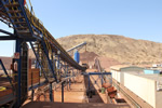 Feed Conveyor and Crusher Stockpile